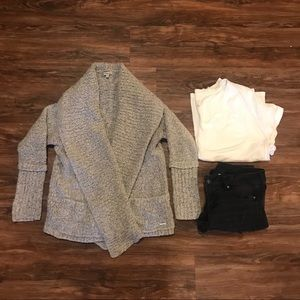 Calvin Klein Chunky Knit Cardigan Sweater